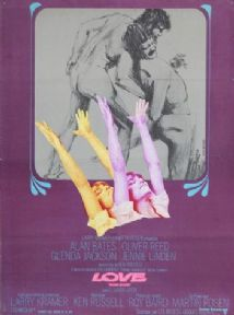 Vintage British movie poster - Women in Love 1969